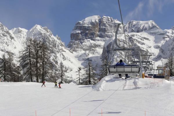 Pinzolo, Madonna di Campiglio e la Ski Area Campiglio Dolomiti